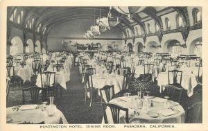 Dining Room Huntington Hotel Interior C-1910 Pasadena California Hecht 9689