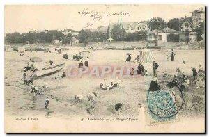 Old Postcard Arcachon Beach It Eyrac