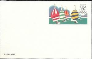US Postcard mint - Olympics '84.  Wind Gliders.  Issued in 1983.