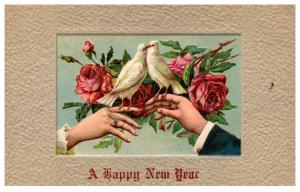 New Year , Kissing Doves
