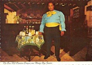 MONTEGO BAY Jamaica  ROSE HALL PLANTATION DUNGEON~Bartender Lester Bell 4x6 Card