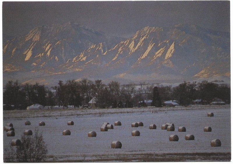 US Colorado. Boulder Flatiron.  Mint Card. Beautiful Colorado.