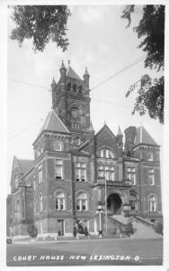 Lexington Ohio Court House Real Photo Antique Postcard K29966