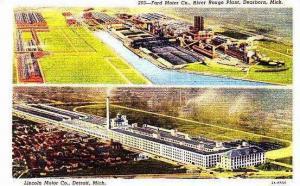 Michigan Dearborn Ford Motor Company & Lincoln Motor Company Curteich