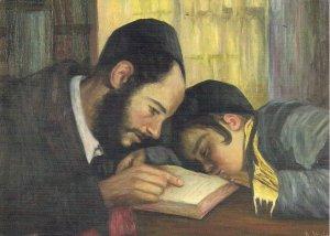 JUDAICA, Jewish Historical Institute, Warsaw, Poland, Art, Talmud Teacher, Boy