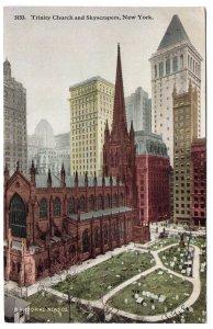 Trinity Church and Skyscrapers, New York