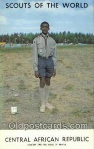 Cental African Republic Boy Scouts of America, Scouting Postcard, Post Cards,...