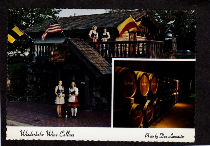 AR Wiederkehr Wine Cellars Weinkeller Restaurant nr ALTUS ARKANSAS Postcard