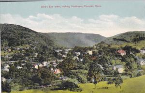 CHESTER, Massachusetts, 1900-1910's; Bird's Eye View, Looking Southeast