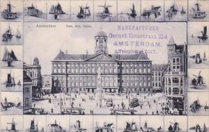 Netherlands Amsterdam Don & Paleis Windmill Border 1906
