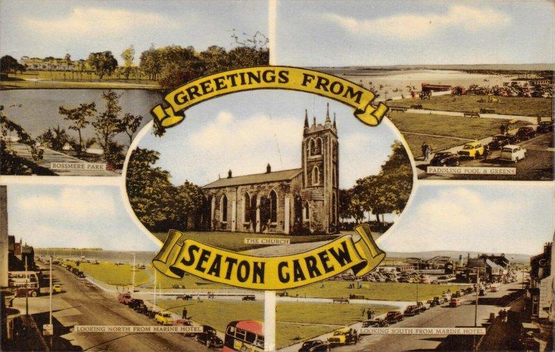Vintage Multi View Postcard, Seaton Carew, Hartlepool, Co. Durham 83X