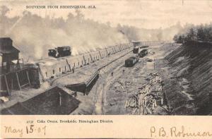 Birmingham Alabama Coke Ovens Birdseye View Antique Postcard K87155