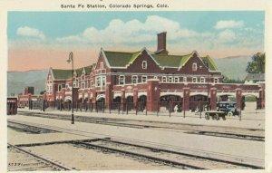 Colorado Springs , Colorado , 1910s ; Santa Fe Railroad Train Station