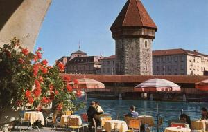 Switzerland - Lucerne. Chapel Bridge and Water Tower