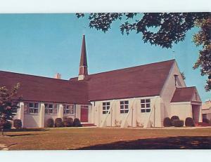 Unused 1950's CHURCH SCENE Selbyville Delaware DE p3795@
