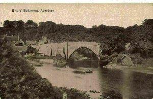 Aberdeen Brig o' Balgownie River Bridge Postcard