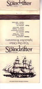 Matchbook Cover ! The Spindrifter Restaurants, Hawaii !
