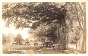 A80/ Caro Michigan Mi Real Photo RPPC Postcard 1948 State Highway Park