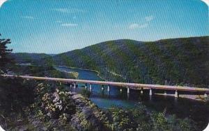 Pennsylvania Allentown The New Delaware Water Gap Bridge In the Scenic Pocono...
