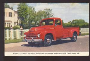1951 INTERNATIONAL PICKUP TRUCK MANHATTAN KANSAS ADVERTISING POSTCARD