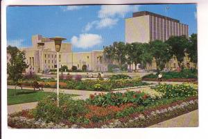 Memorial Park Flower Gardens, Government Buildings, Winnipeg, Manitoba, Photo...