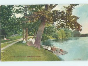 Divided-Back WATER SCENE Brainard Minnesota MN hk3384