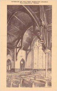Pennsylvania Philadelphia Interior Of The First Moravian Church Artvue