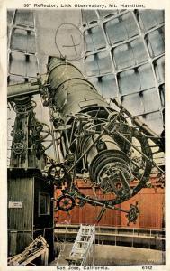 CA - Mt. Hamilton. Lick Observatory Interior, Reflector    (Astronomy)  (dama...