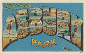 Large Letter ASBURY , N.J. , 30-40s