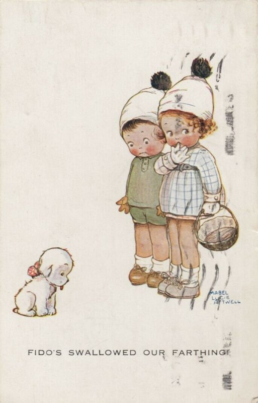 Mabel Lucie ATTWELL; 1924; Fido's Swallowed our Farthing, Children, dog