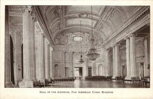 Washington DC, Hall of the Americas, Pan American Union, Vintage Postcard c1017