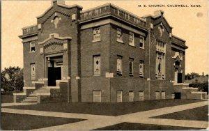 M. E. Church Caldwell Kansas Vintage Postcard Standard View Card