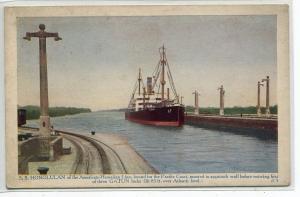SS Honolulan Ship American Hawaiian Line Panama Canal 1920c postcard