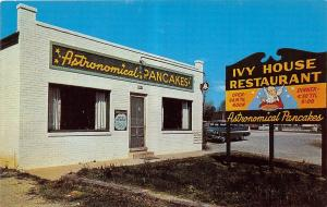 C57/ Williamsburg Virginia Va Postcard c50s Astronomical Pancakes Ivy House
