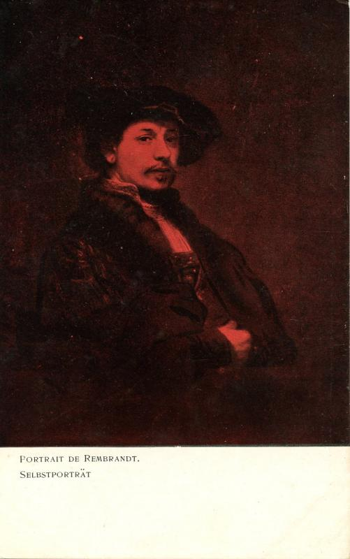 Famous People - Rembrandt, Self Portrait