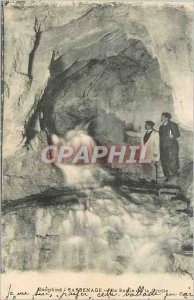 Old Postcard Dauphine Sassenage The output of the Cave