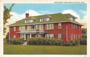 D54/ Beulah Beach Ohio Postcard c1930s Missionary Home Building