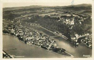 Germany Passau aerial view c.1937