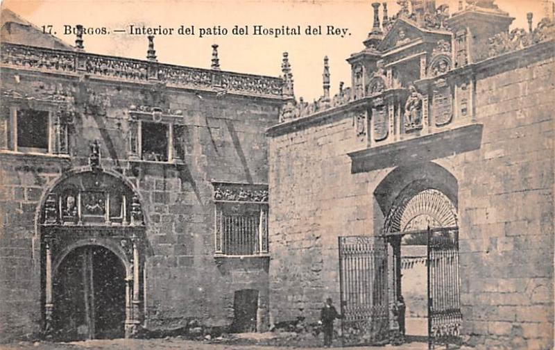 Spain Old Vintage Antique Post Card Interior del patio del Hospital del Rey B...