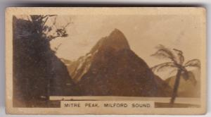 Cigarette Card  Westminster New Zealand (First Series) 7 Mitre Peak Milford Sou