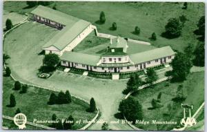 Charlottesville, Virginia Postcard Town & Country Motor Lodge Roadside 1954