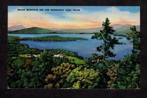 ME Squaw Mt Mountain Inn Moosehead Lake Maine Postcard Carte Postale PC