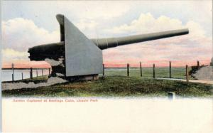 CHICAGO, IL Illinois    CANNON Captured at Santiago, CUBA  c1900s  Postcard