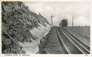 Llanberis Wales Summit of Snowdon railroad photo postcard