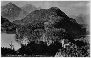 Germany Hohenschwangau Jugend Castle Lake Forest Postcard