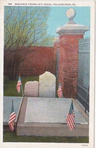 Pennsylvania Philadelphia Benjamin Franklin's Grave Curteich