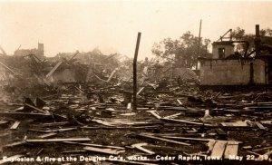 RPPC 1919 Explosion Fire Douglas Company Works Cedar Rapids Iowa Photo pc3363