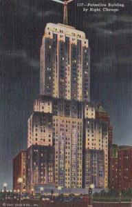 Illinois Chicago Palmolive Building At Night 1951 Curteich