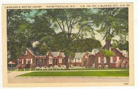 Leonard´s Motor Court,Fayetteville,North Carolina,30-40