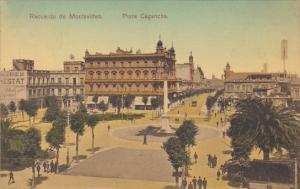 Uruguay Montevideo Plaza Cagancha 1910 U S S Tennessee Cancel